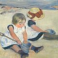 Children Playing On The Beach by Mary Stevenson Cassatt