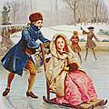 Children Skating by Maurice Leloir