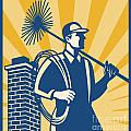 Chimney Sweeper Cleaner Worker Retro by Aloysius Patrimonio