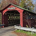 Chiselville Covered Bridge Print by Edward Fielding