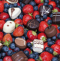 Chocolates And Strawberries by Tim Gainey