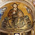 Christ in Majesty  Pisa duomo Print by Liz Leyden