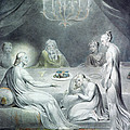 Christ In The House Of Martha And Mary Or The Penitent Magdalene by William Blake