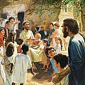 Christ With Children by Peter Seabright