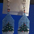 Christmas Earrings Print by Kimberly Johnson