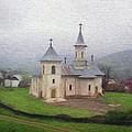 Church in the Mist Print by Jeff Kolker