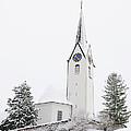 Church In Winter by Matthias Hauser
