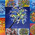 Circle Tree Collage by Cathy Jacobs