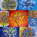 Circle Trees by Cathy Jacobs