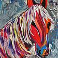 Cisco Abstract Horse  Print by Janice Rae Pariza