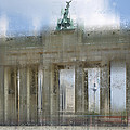 City-art Berlin Brandenburg Gate by Melanie Viola