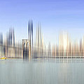 City-art Manhattan Skyline I by Melanie Viola