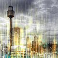 City-art Sydney Rainfall by Melanie Viola