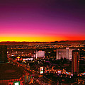 City - Vegas - Ny - Sunrise Over The City by Mike Savad