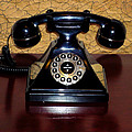 Classic Rotary Dial Telephone by Mariola Bitner