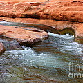 Clear Water at Slide Rock Print by Carol Groenen