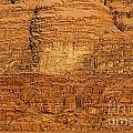 Close Up Of A Rocky Outcrop At Wadi Rum In Jordan by Robert Preston