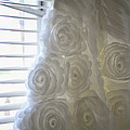 Close-up Of Flower Wedding Dress by Mike Hope