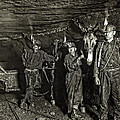 COAL MINE MULE DRIVERS  1908 Print by Daniel Hagerman