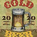 Cold Beer Print by Debbie DeWitt
