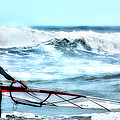 Cold Feet - Stormy Seas - Outer Banks by Dan Carmichael