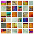 Color Block Collage Abstract Art by Ann Powell