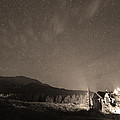 Colorado Chapel On The Rock Dreamy Night Sepia Sky by James BO  Insogna