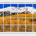 Colorado Rocky Mountain Autumn Pass White Window View  by James BO  Insogna
