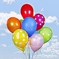 Colorful Balloons With Blue Sky by Elena Elisseeva