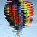 Colorful Hot Air Balloon Ripples Print by Carol Groenen