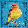 Colorful Songbirds 4 by Debbie DeWitt