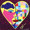 Colors Of Love Third In The Women Series Print by Annie Zeno