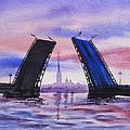 Colors Of Russia Bridges of Saint Petersburg Print by Irina Sztukowski