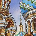 Colors Of Russia St Petersburg Cathedral II by Irina Sztukowski