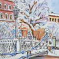 Colors Of Russia Winter in Saint Petersburg Print by Irina Sztukowski