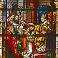 Consecration Of St Augustine Stained Glass Window by Christine Till