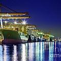 Container Cargo Freight Ship by Anek Suwannaphoom