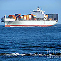 Container Ship by Olivier Le Queinec