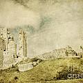 Corfe Castle - Dorset - England - Vintage Effect by Natalie Kinnear