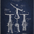 Corkscrew Patent Drawing From 1883 by Aged Pixel