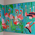 Corner Flamingos by Vicky Tarcau