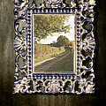 Country Lane Reflected In Mirror by Amanda And Christopher Elwell