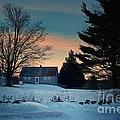 Countryside Winter Evening by Joy Nichols