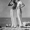 Couple On The Maine Shore by Underwood Archives