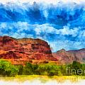 Courthouse Butte Sedona Arizona Print by Amy Cicconi