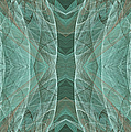 Crashing Waves Of Green 2 - Panorama - Abstract - Fractal Art by Andee Design