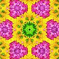 Crazy Daises - Spring Flowers - Bouquet - Gerber Daisy Wanna Be - Kaleidoscope 1 by Andee Design