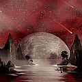 Crimson Night Print by Anthony Citro