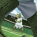 Crocodiles Playing Tennis At Wimbledon  by Martin Davey