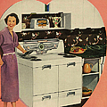 Crosleys  1950s Uk Cookers Kitchens by The Advertising Archives
